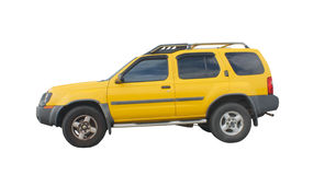 Yellow suv Royalty Free Stock Image