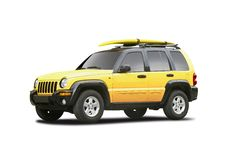Yellow SUV. Isolated on white Stock Image