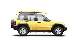 Yellow SUV. Isolated on white Royalty Free Stock Images