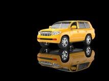 Yellow SUV Stock Photography
