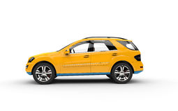 Yellow SUV - Side View Royalty Free Stock Photos