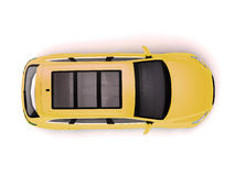 Yellow SUV Top View Royalty Free Stock Photo