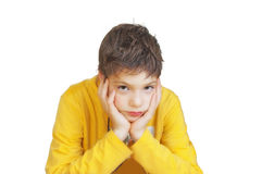 Yellow sweater Stock Images