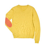 Yellow sweater isolated on a white background. Yellow sweater isolated on a white Royalty Free Stock Photography
