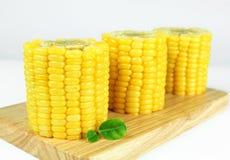 Yellow sweet corn Stock Images