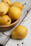 Yellow Sweet Pears. In a Bowl Stock Images