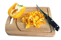 Yellow sweet pepper Royalty Free Stock Photo