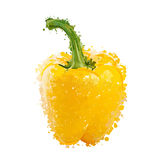 Yellow sweet pepper of blots  Royalty Free Stock Photo