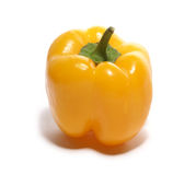Yellow sweet pepper isolated on white. Background royalty free stock images