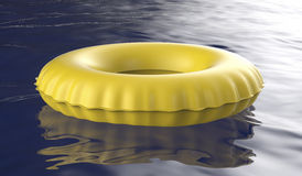 Yellow swim ring Royalty Free Stock Photo
