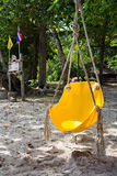 Yellow swing Royalty Free Stock Photo
