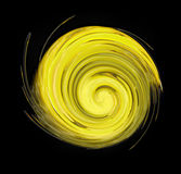 Yellow swirl Royalty Free Stock Image
