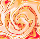 Yellow swirl abstract background. Yellow and white liquid mix of dessert, candy, yogurt. Stock Photography