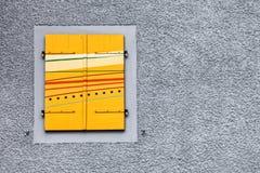 Yellow Swiss Window Shutter Royalty Free Stock Photos