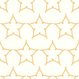 Yellow symmetrical stars vector textile backdrop Stock Images
