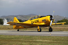 Yellow T-6 Texan Fighter Plane Royalty Free Stock Photography