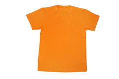 Yellow t-shirt i. Solated on white Stock Photos