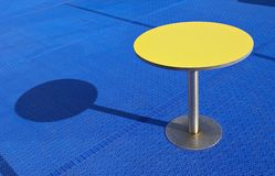 Yellow table Stock Photo