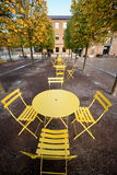 Yellow table Royalty Free Stock Photos