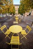 Yellow table Royalty Free Stock Photos