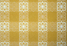 Yellow table cloth Royalty Free Stock Photos