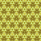 Yellow table cloth with small flowers. Raster seamless pattern Royalty Free Stock Photo