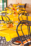 Yellow tables Royalty Free Stock Images