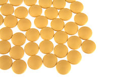 Yellow tablets Stock Image