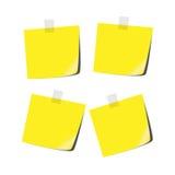 Yellow tabs Royalty Free Stock Photo