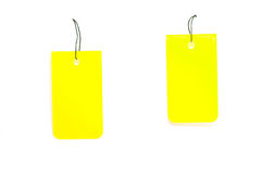 Yellow tags Royalty Free Stock Photography