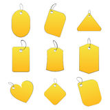 Yellow tags. 100% vectors - white tags, labels Royalty Free Stock Images