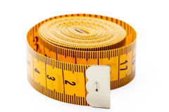 Yellow tailor meter Royalty Free Stock Photography