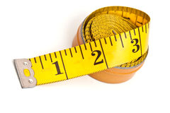 Yellow tailor's meter royalty free stock photo