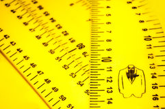 Yellow tailoring rulers Royalty Free Stock Image
