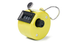 Yellow Tally Counter Royalty Free Stock Images
