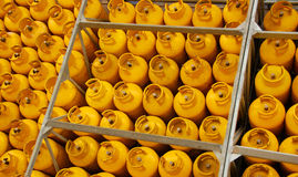 Yellow Tanks. These are yellow tanks in the back of a delivery truck Stock Images