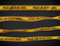 Yellow tape design. Stock Image