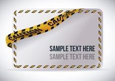 Yellow tape design. Royalty Free Stock Photos