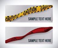 Yellow tape design. Stock Photo