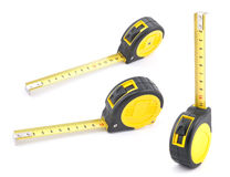 Yellow tape measure. With soft shadow royalty free stock images