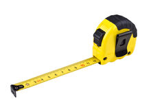 Yellow tape measure. On isolated white Background Royalty Free Stock Image