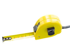 Yellow tape measure Royalty Free Stock Photos