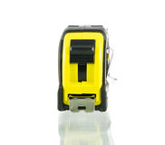 Yellow tape measure isolated Stock Image