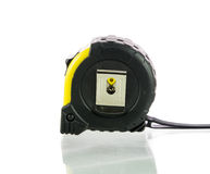Yellow tape measure isolated Stock Photography
