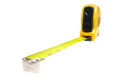 Yellow Tape Measure with Shallow Depth of Field Stock Images