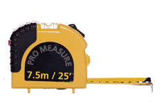Yellow tape measure Stock Image