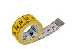 Yellow tape measure Stock Image