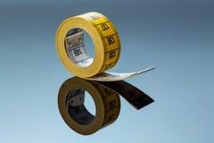 Yellow tape measure Royalty Free Stock Image
