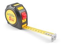 Yellow tape mesure tool Royalty Free Stock Photos