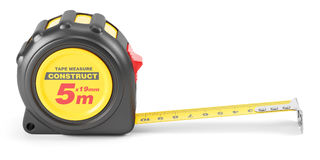 Yellow tape mesure tool Stock Photos